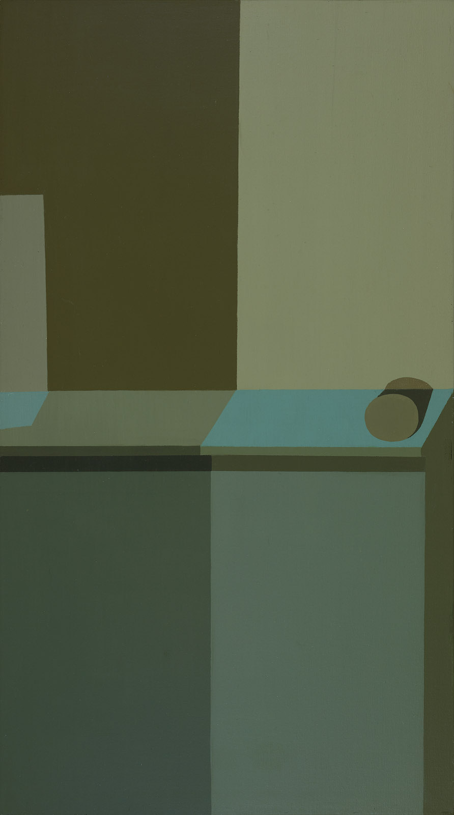 Untitled , 1961  oil on canvas 36 x 20 inches; 91.4 x 50.8 centimeters