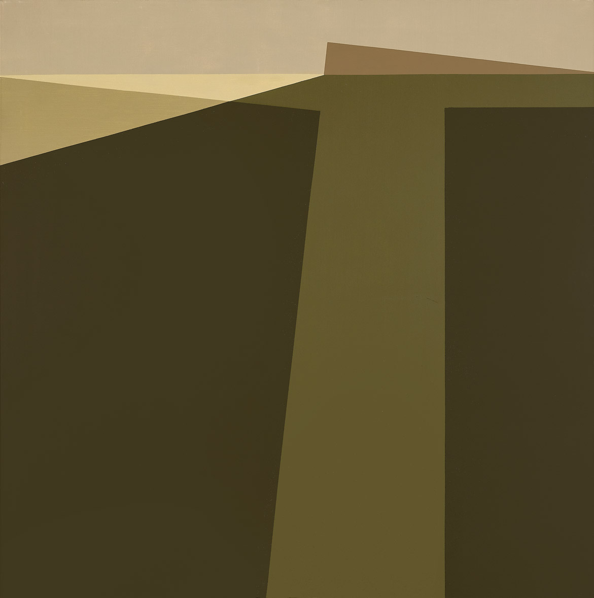 Landscape , 1961  oil on canvas 50 x 50 inches; 127 x 127 centimeters