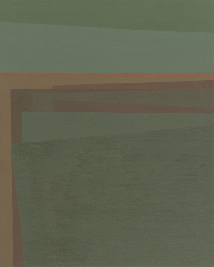 Daybreak , 1961  oil on canvas 30 x 24 inches; 76.2 x 61 centimeters