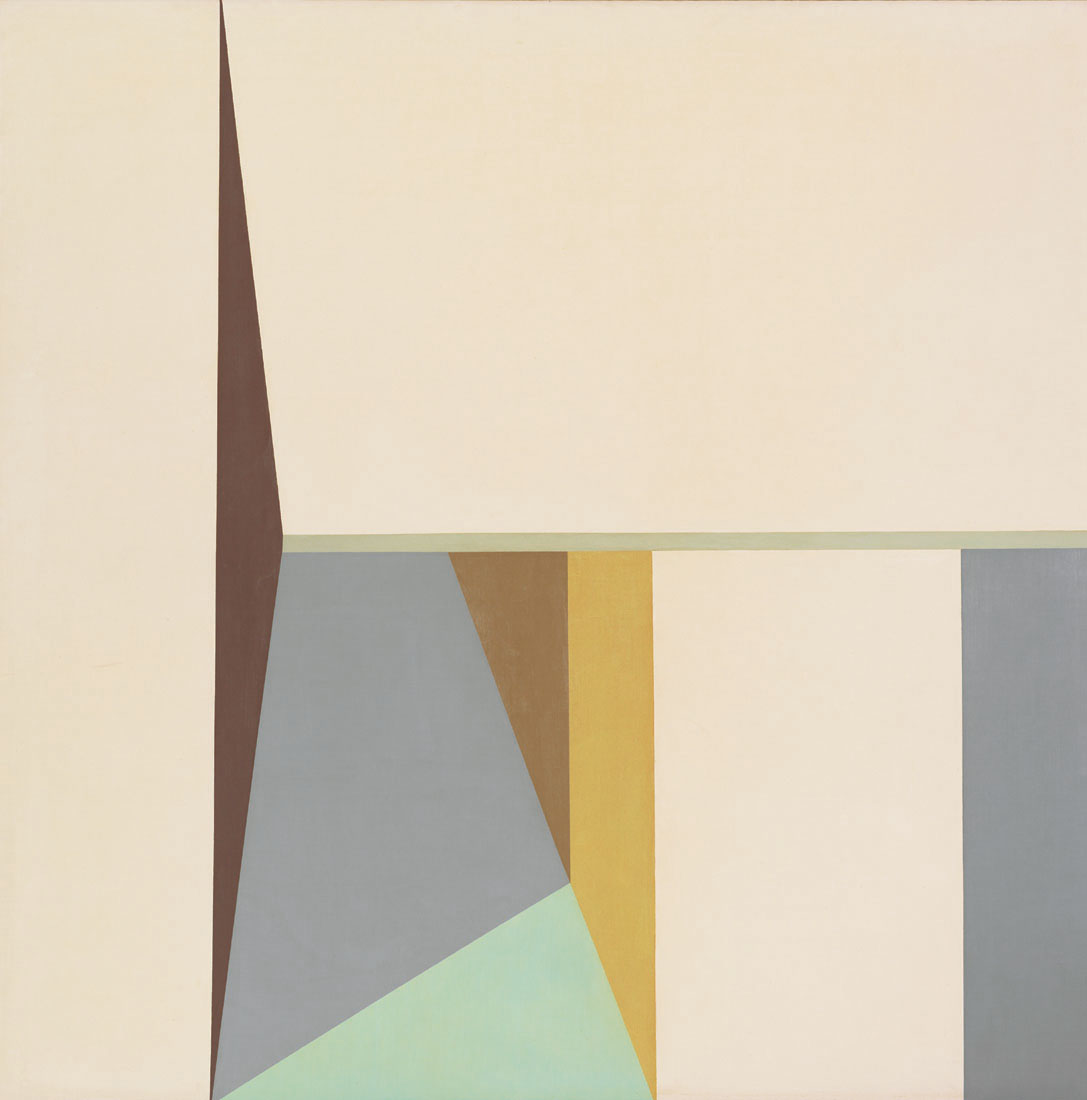 By the Sea II , 1962  oil on canvas 50 x 50 inches; 127 x 127 centimeters