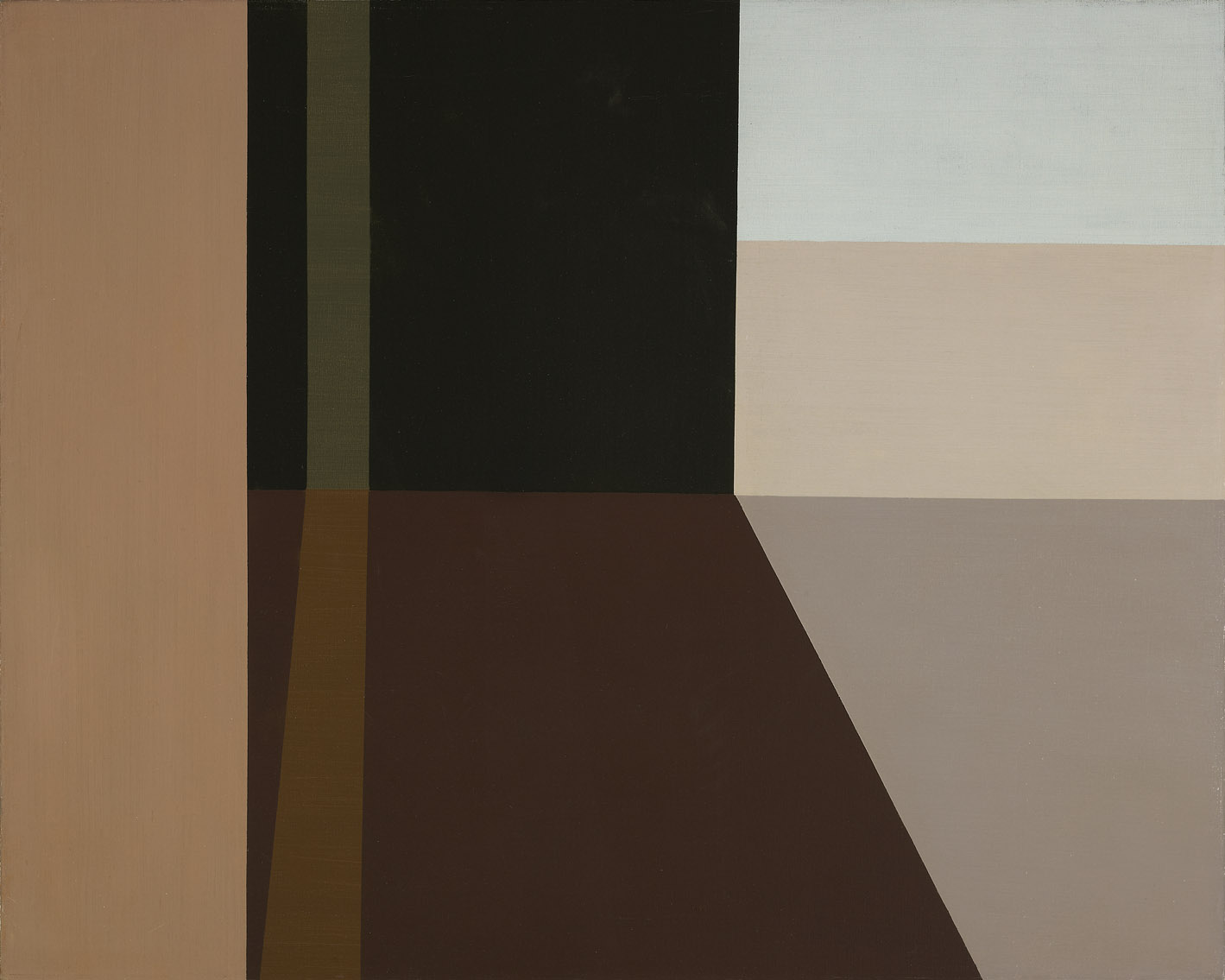 Interior With Light Paths , 1962  oil on canvas 24 x 30 inches; 61 x 76.2 centimeters