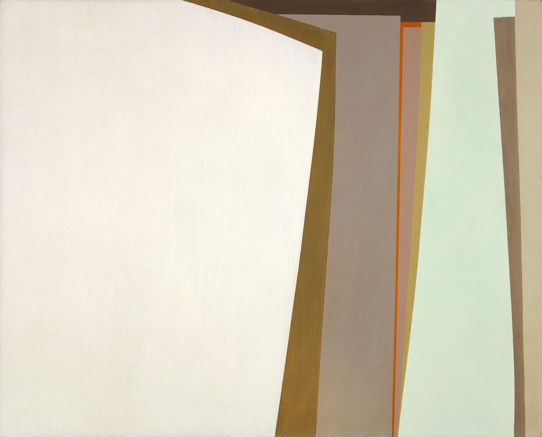 Landscape: White and Orange , 1962  oil on canvas 24 x 30 inches; 61 x 76.2 centimeters
