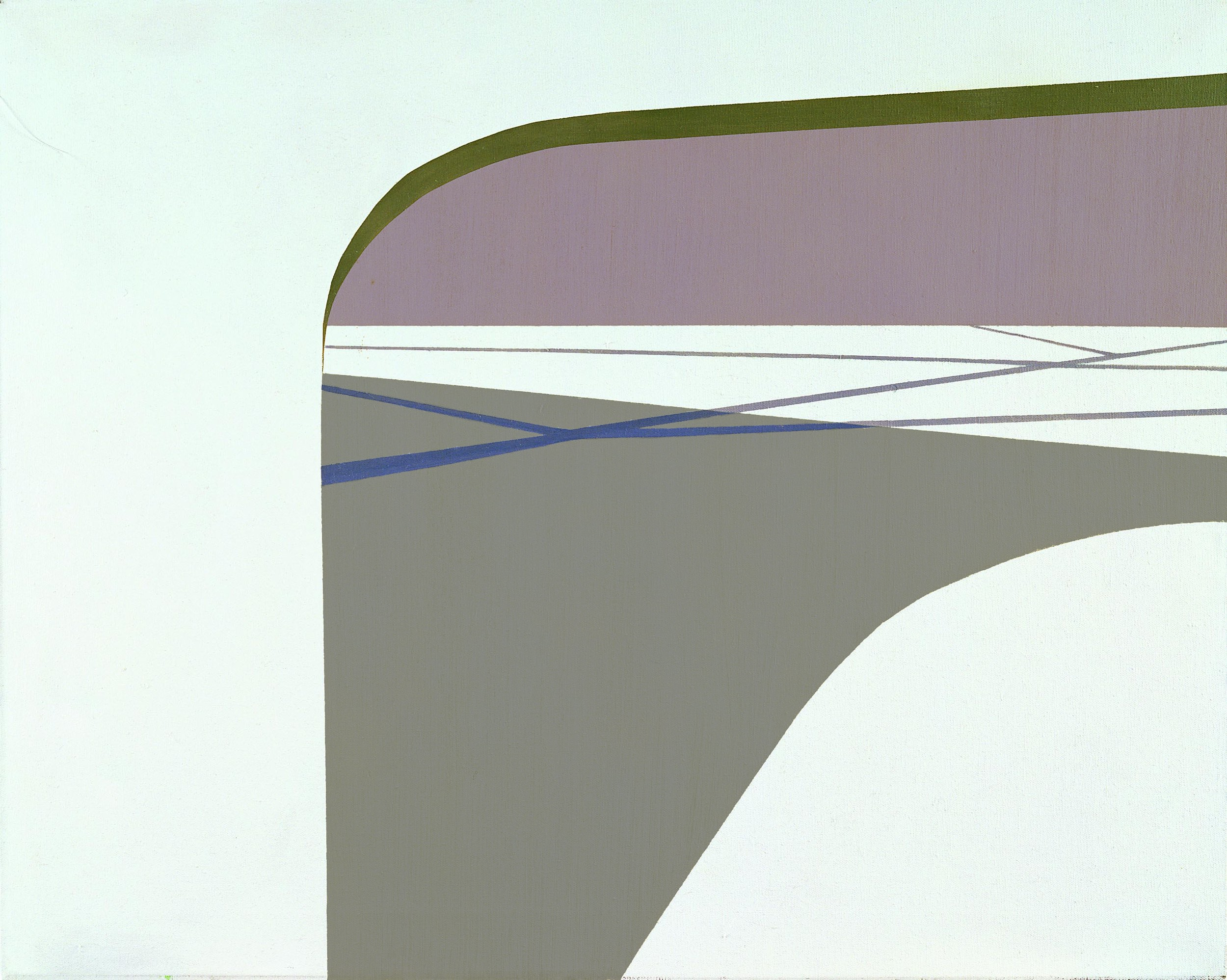 Shadow of the Bridge I , 1962  oil on canvas 24 x 30 inches; 61 x 76.2 centimeters