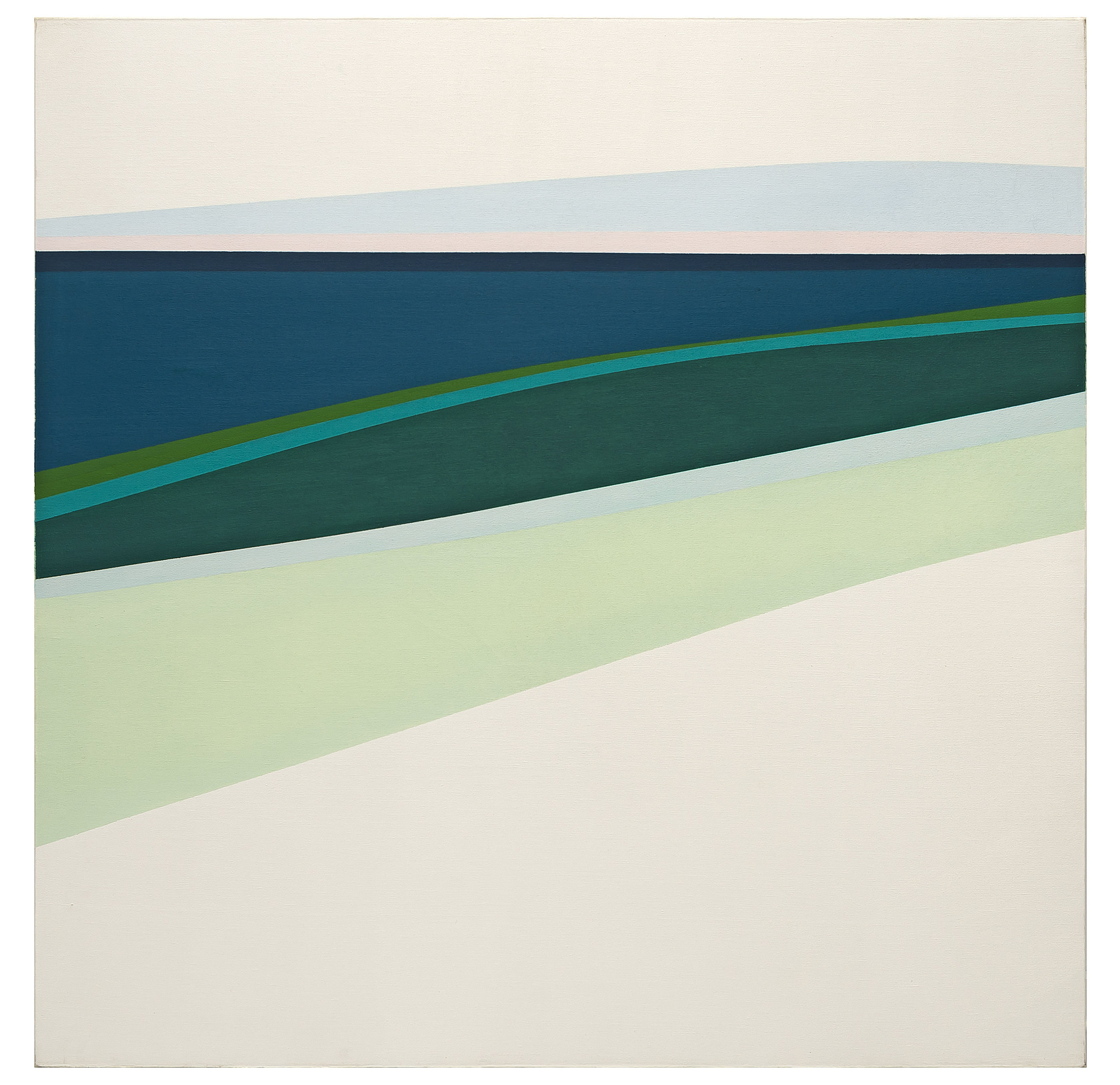 Fine Day , 1963  oil on canvas 60 x 60 inches; 152.4 x 152.4 centimeters