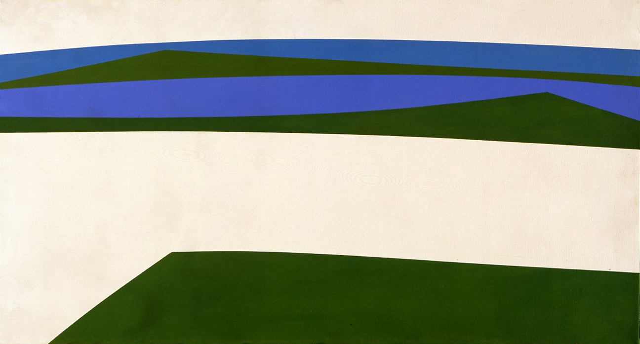 Untitled (Breakwater) , 1963  acrylic on canvas 20 x 36 inches; 50.8 x 91.4 centimeters