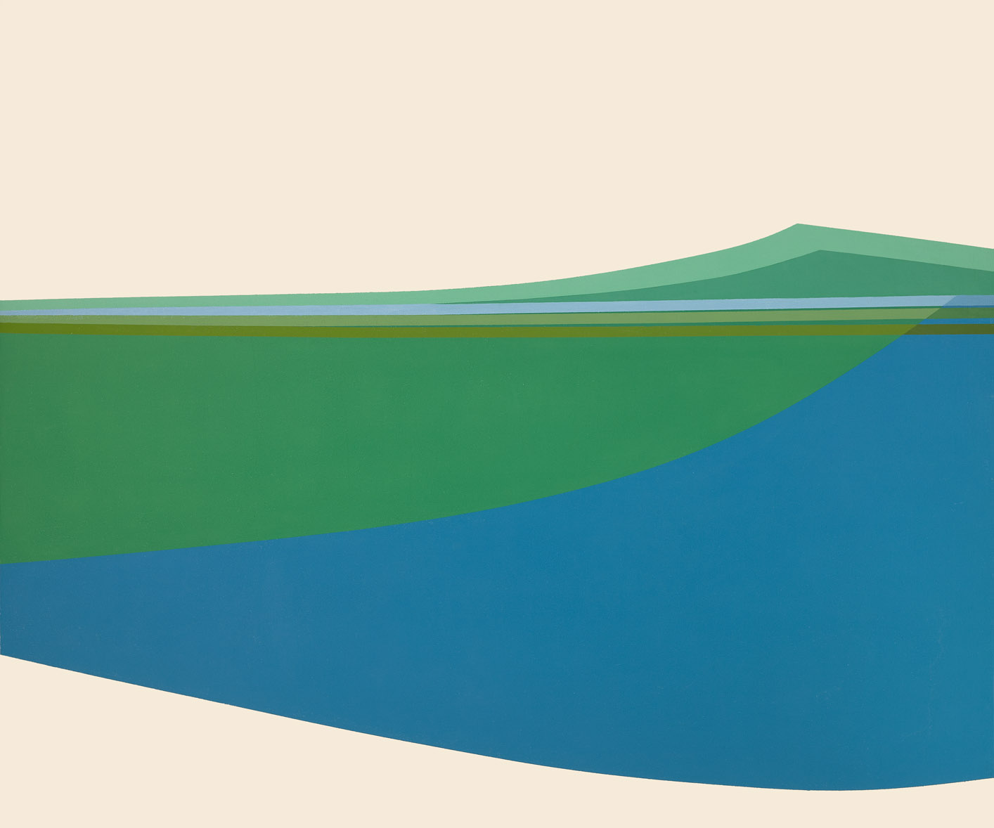 Triptych (July 4) , 1963  oil on canvas 60 x 204 inches; 152.4 x 518.2 centimeters