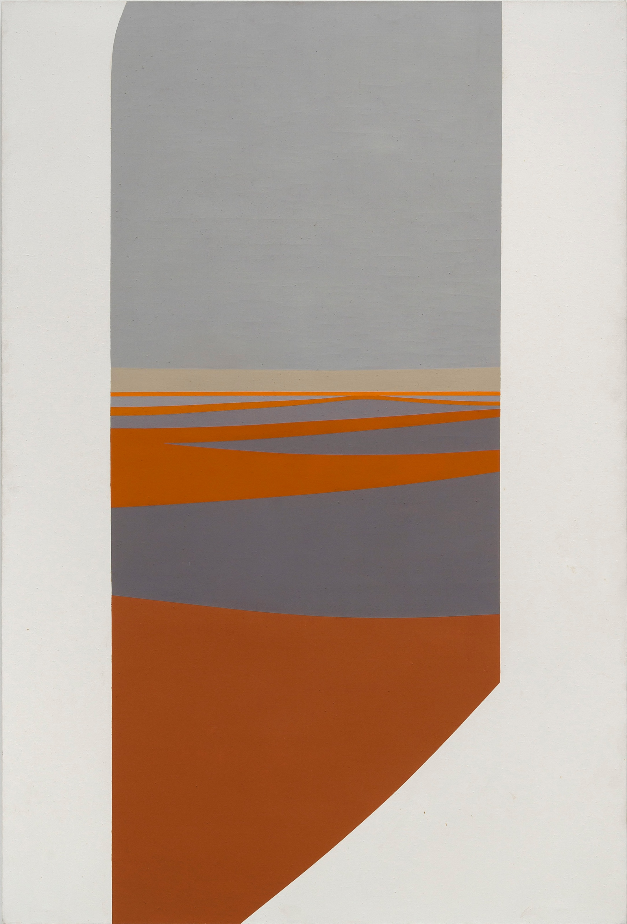 Across the Water , 1964  acrylic on canvas 60 x 40 inches; 152.4 x 101.6 centimeters