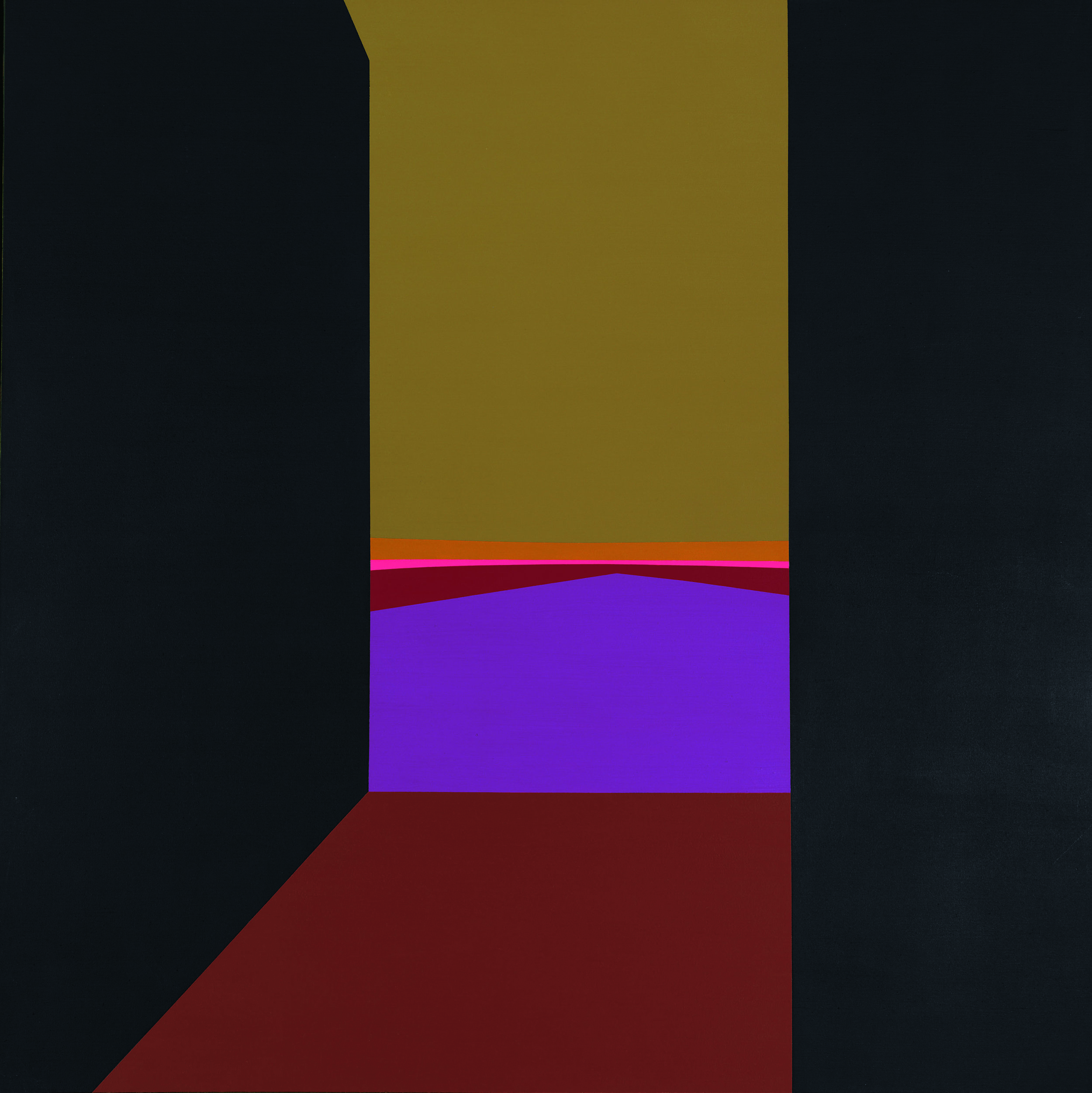 Evening , 1964  oil on canvas 60 x 60 inches; 152.4 x 152.4 centimeters