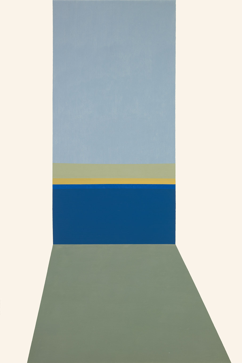Evening View , 1964  acrylic on canvas 60 x 40 inches; 152.4 x 101.6 centimeters
