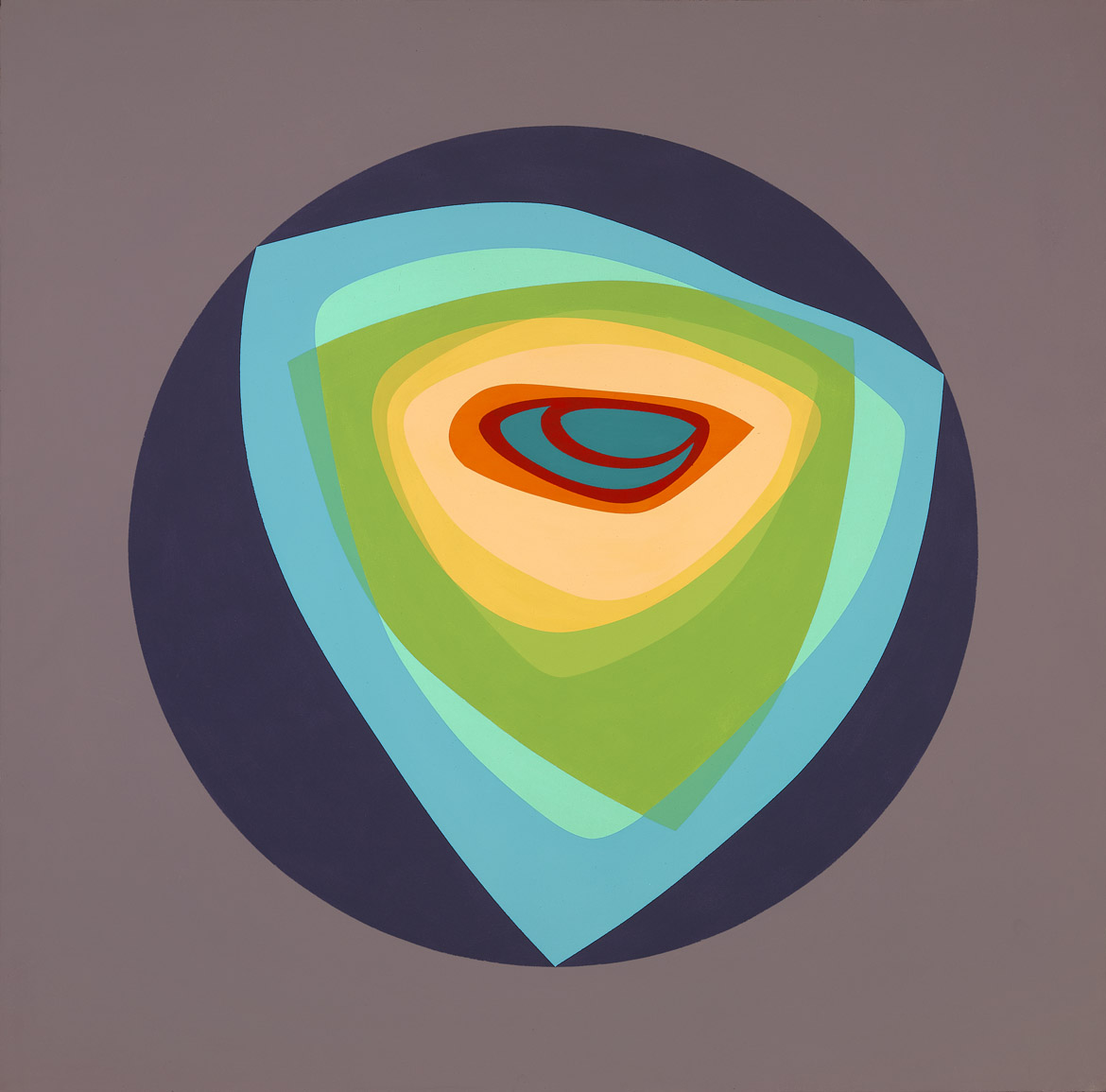 Wild Planet (October 10) , 1965  acrylic on canvas 60 x 60 inches; 152.4 x 152.4 centimeters