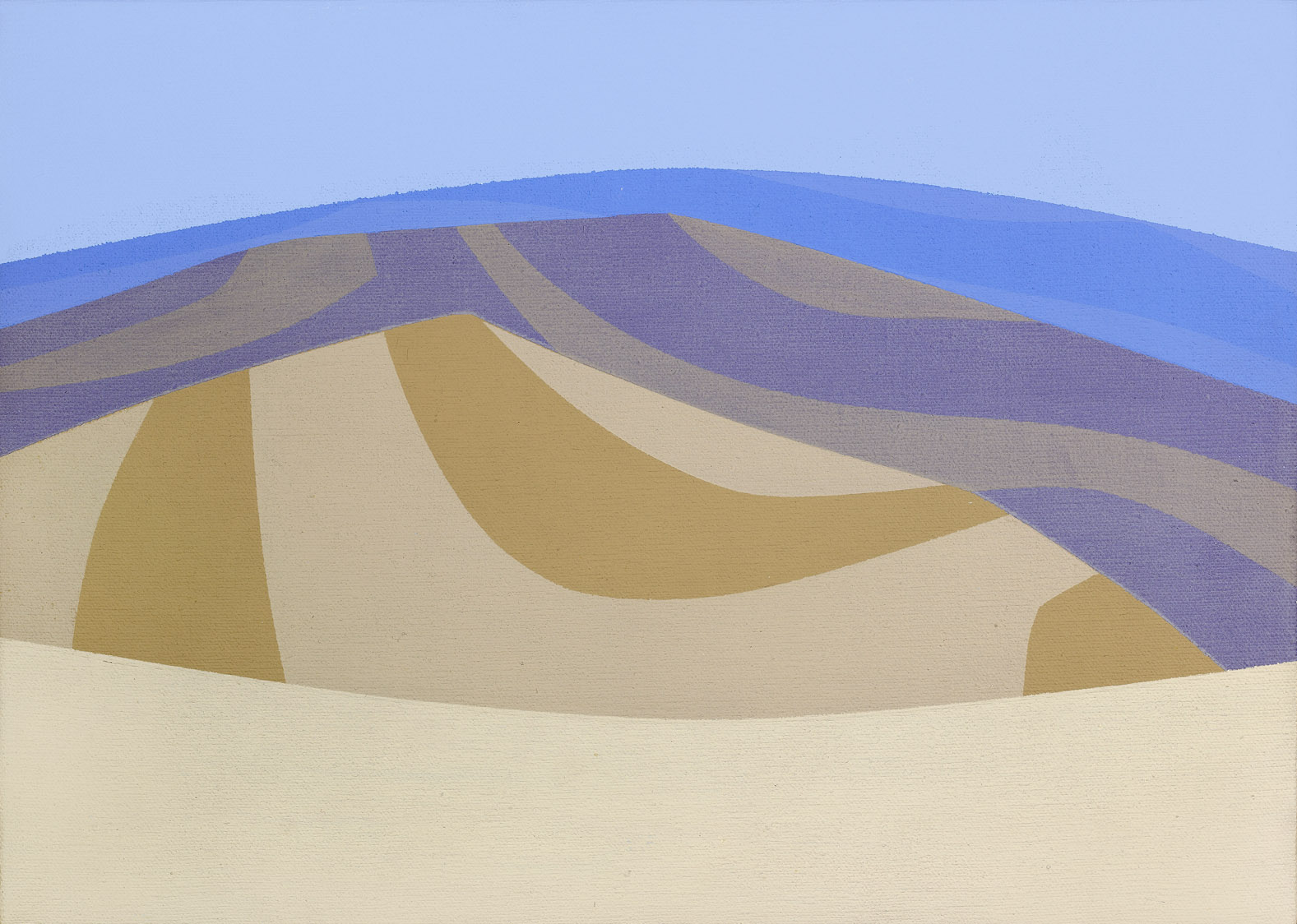 Untitled (Land Patterns) , 1966  Acrylic on canvas 10 x 14 inches; 25.4 x 35.5 centimeters