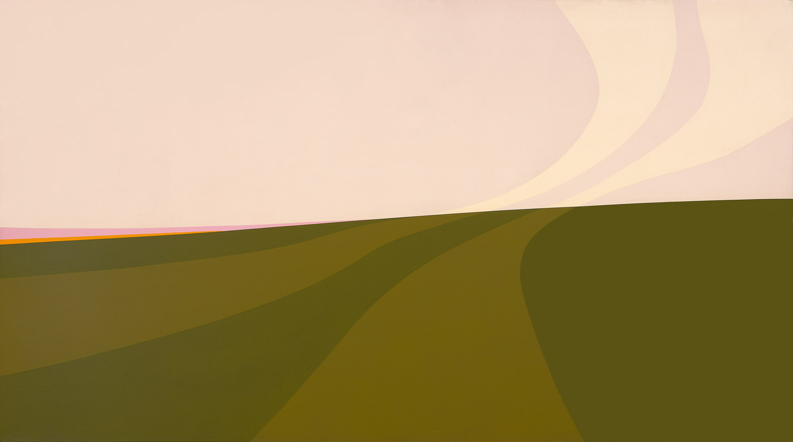 Landscape , 1968  acrylic on canvas 30 x 54 inches; 76.2 x 137.2 centimeters