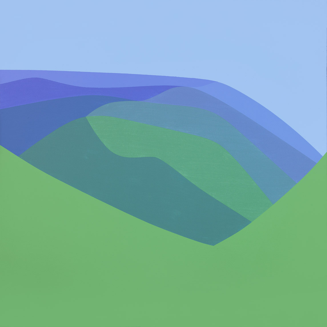 Blue Mountain , 1967  acrylic on canvas 40 x 40 inches; 101.6 x 101.6 centimeters