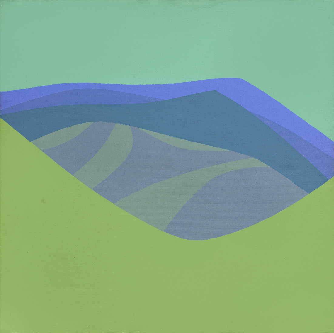 Blue Hills , 1967  Acrylic on canvas 12 x 12 inches; 30.5 x 30.5 centimeters