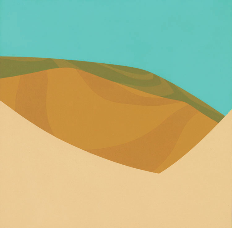 High Desert , 1967  acrylic on canvas 20 x 20 inches; 50.8 x 50.8 centimeters
