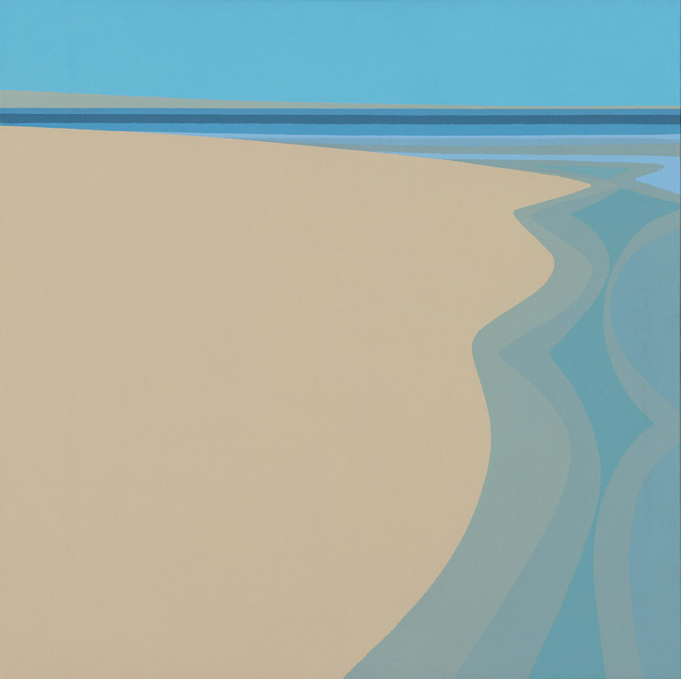 Tidelands , 1967  acrylic on canvas 24 x 24 inches; 61 x 61 centimeters