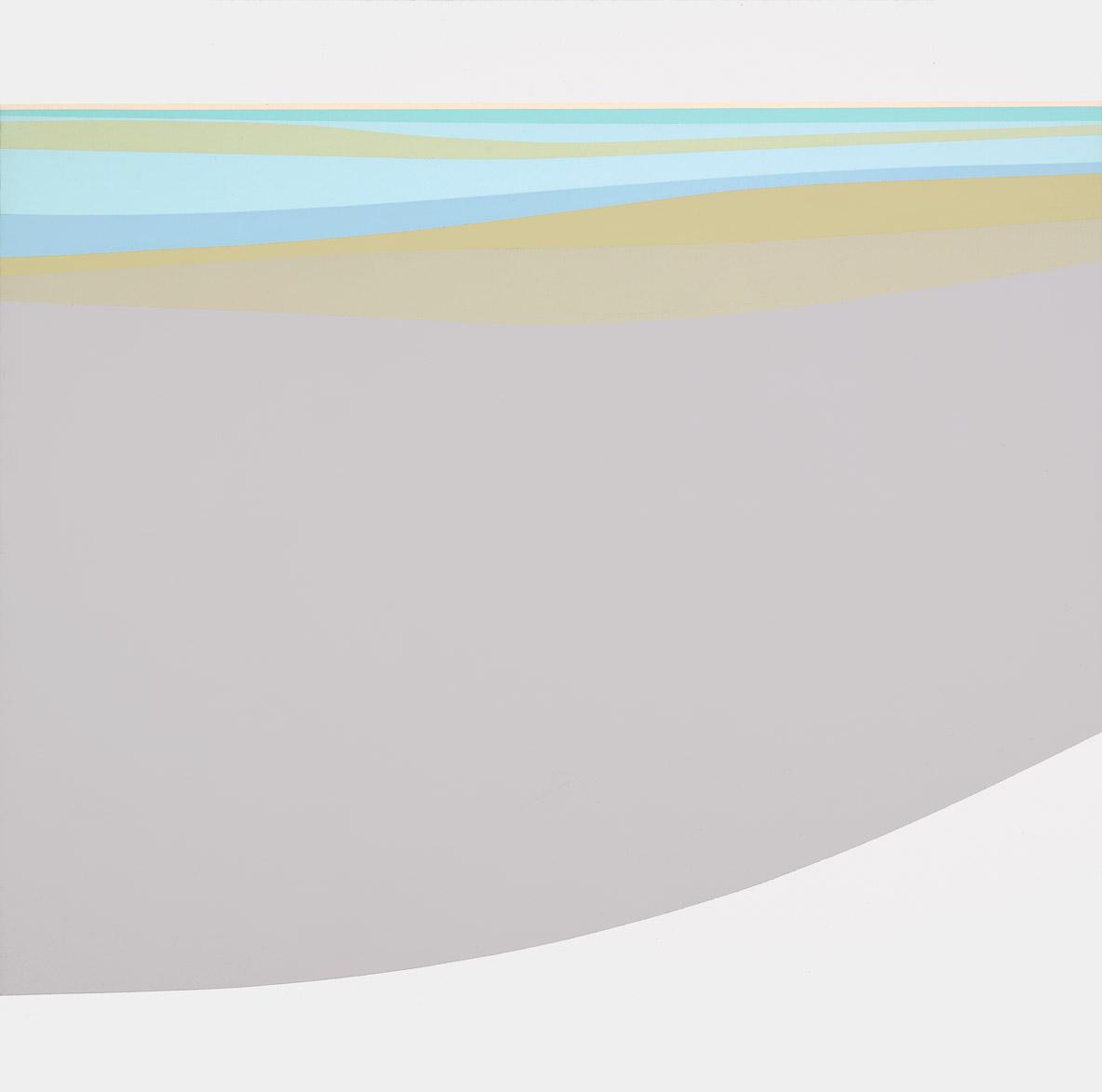 Seashore , 1969  acrylic on canvas 60 x 60 inches; 152.4 x 152.4 centimeters