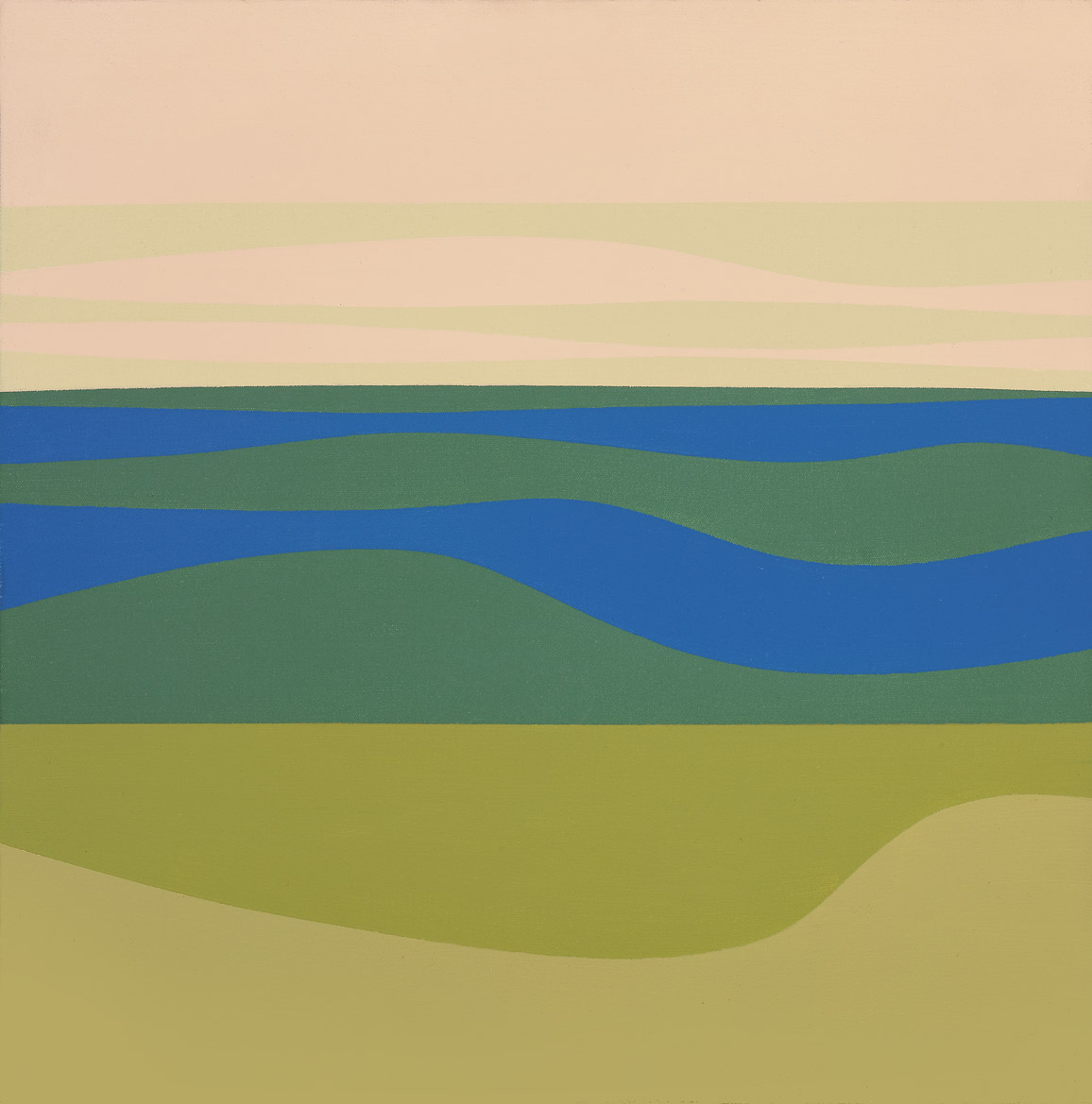 Ocean View , 1970  acrylic on canvas 20 x 20 inches; 50.8 x 50.8 centimeters