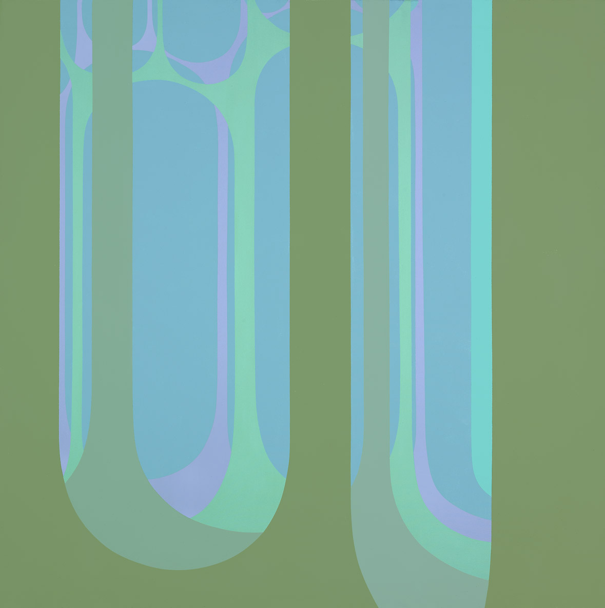 Untitled , 1967  acrylic on canvas 60 x 60 inches; 152.4 x 152.4 centimeters