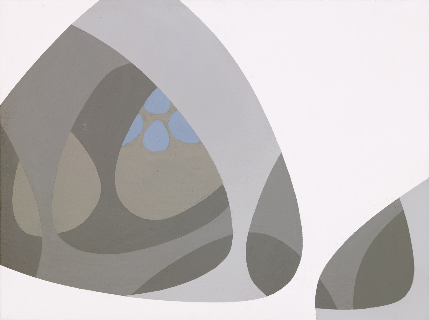 Untitled (arcane forms) , 1970  acrylic on canvas 12 x 16 inches; 30.5 x 40.6 centimeters
