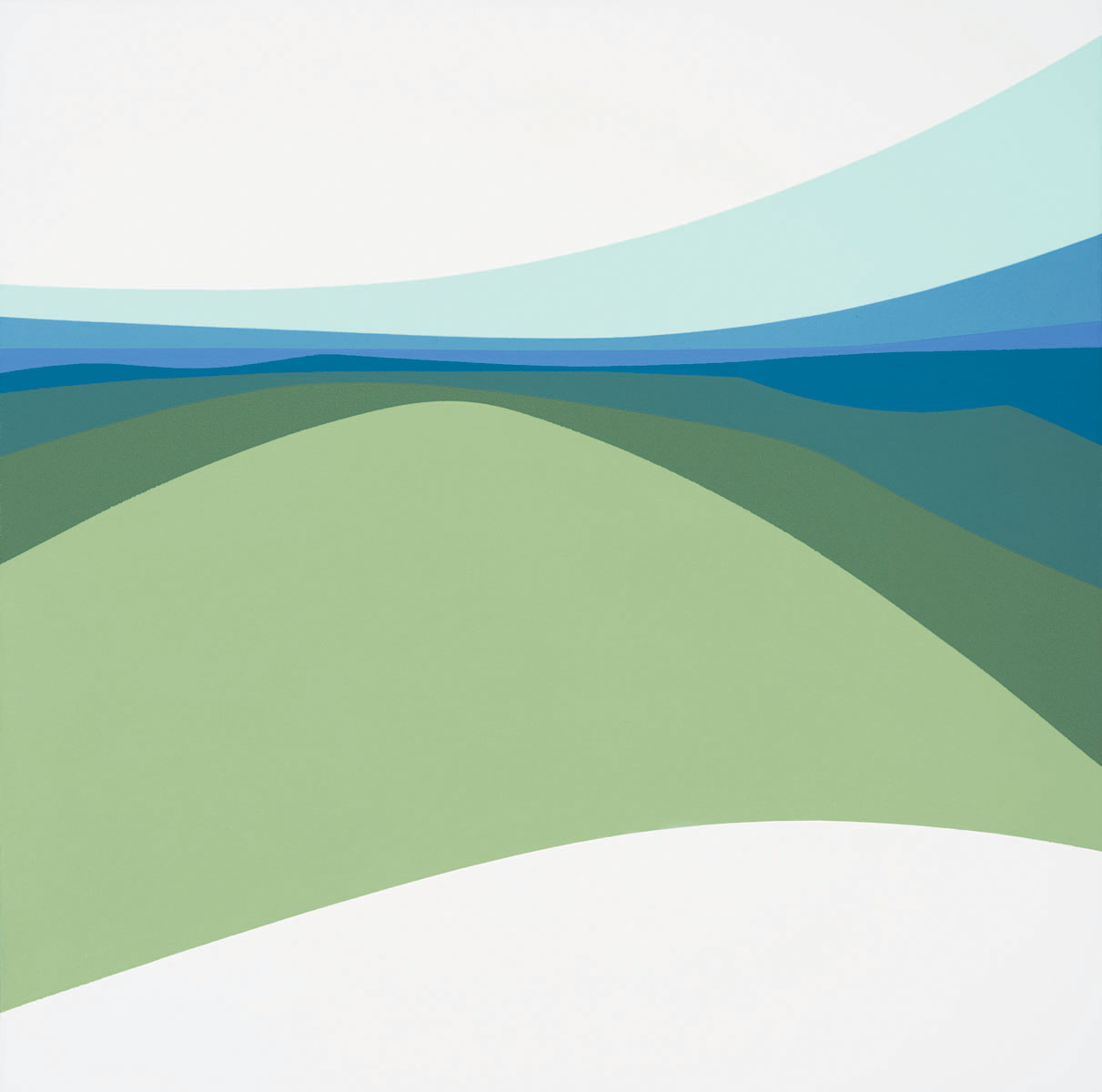 Highlands , 1970  acrylic on canvas 36 x 36 inches; 91.5 x 91.5 centimeters