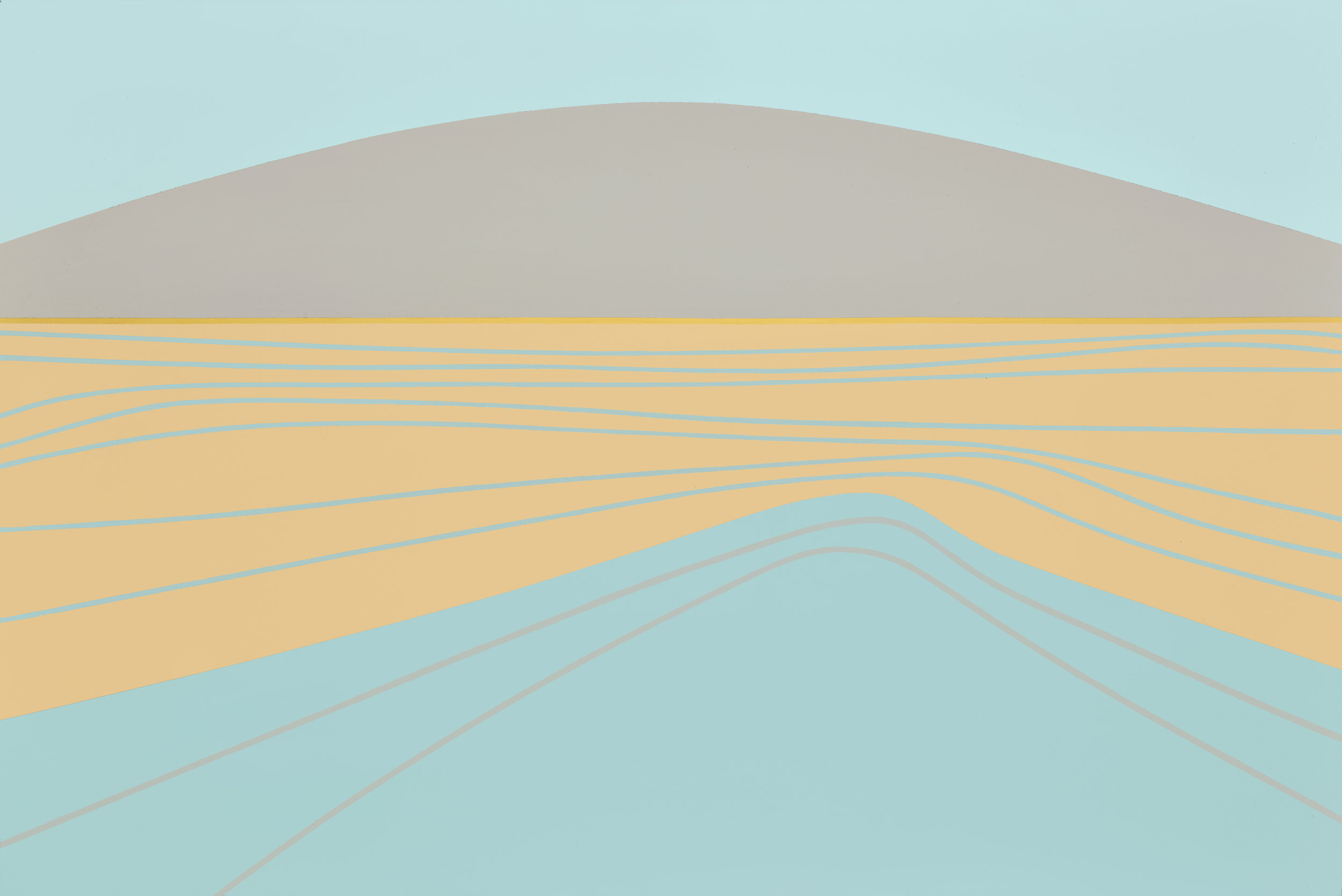 Untitled (Landscape) , 1972  acrylic on canvas 40 x 60 inches; 101.6 x 152.4 centimeters