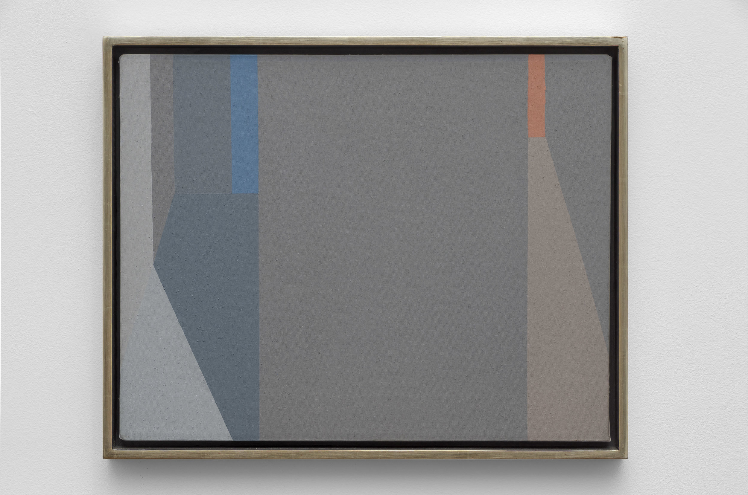 Untitled (Evening Lights and Shadows) , 1975  acrylic on canvas 14 x 18 inches; 35.6 x 45.7 centimeters