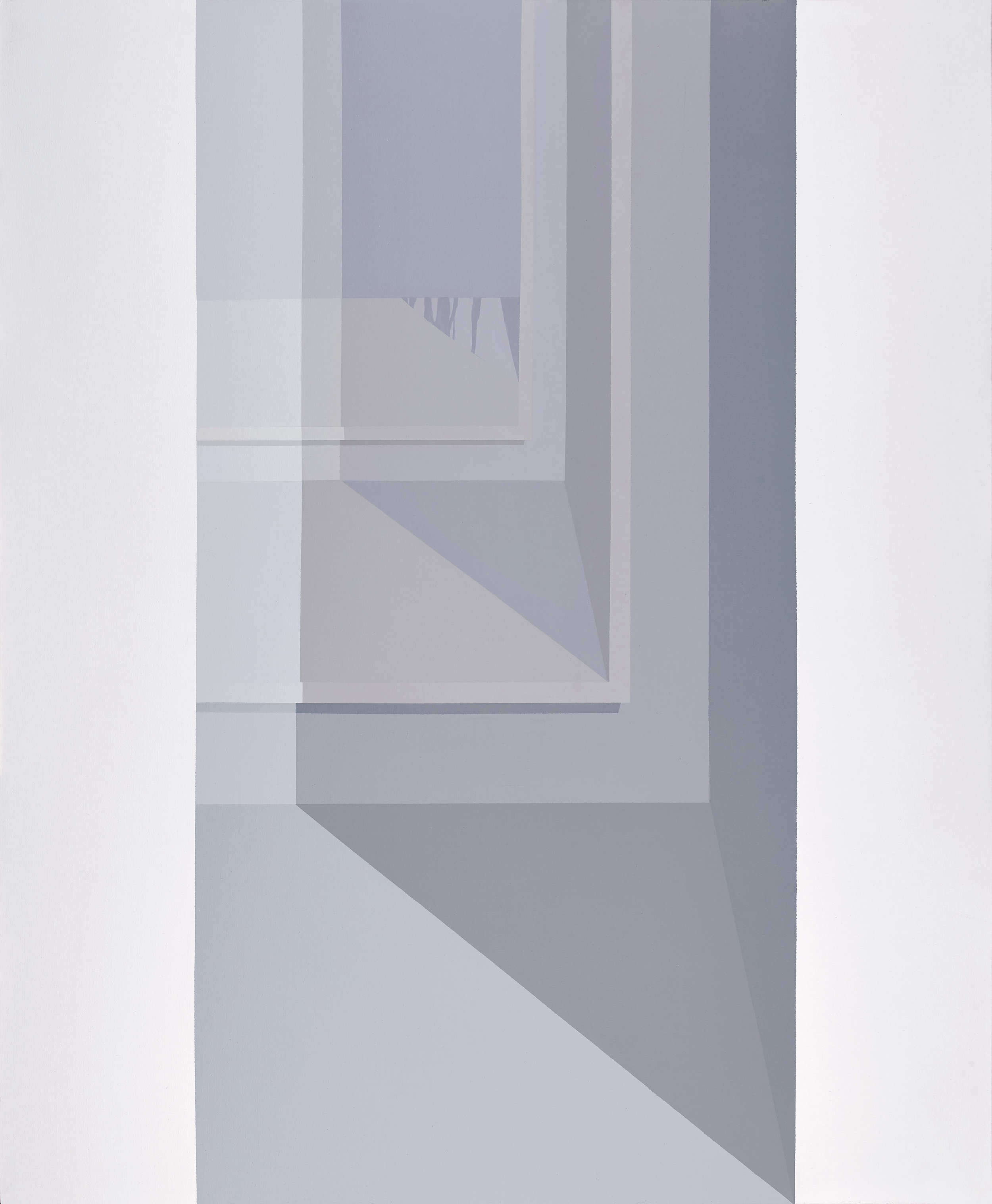 Grey Interior II , 1979  acrylic on canvas 60 x 50 1/4 inches; 152.4 x 127.6 centimeters