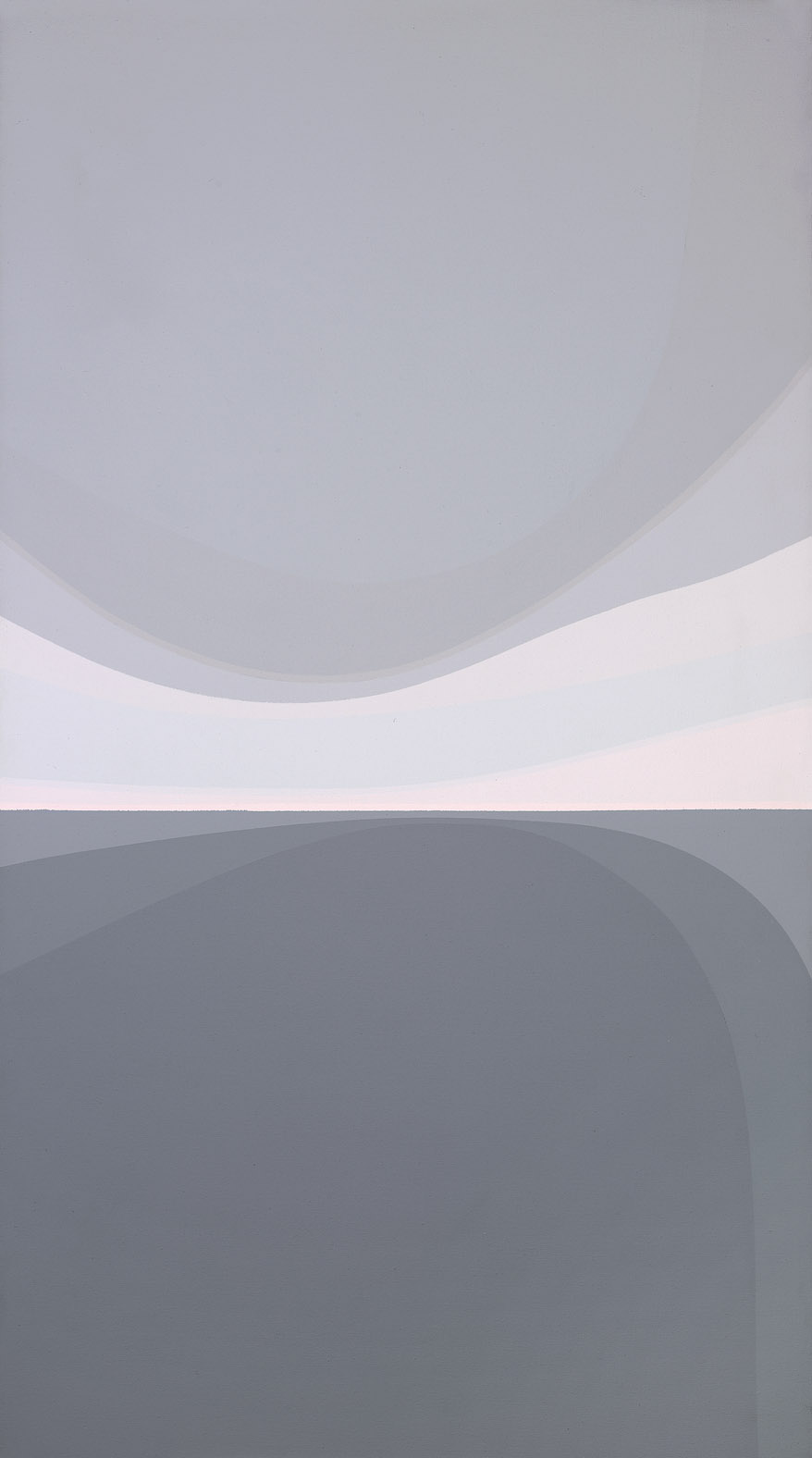 Landscape: Grey and Pink , 1979  acrylic on canvas 54 x 30 inches; 137.2 x 76.2 centimeters