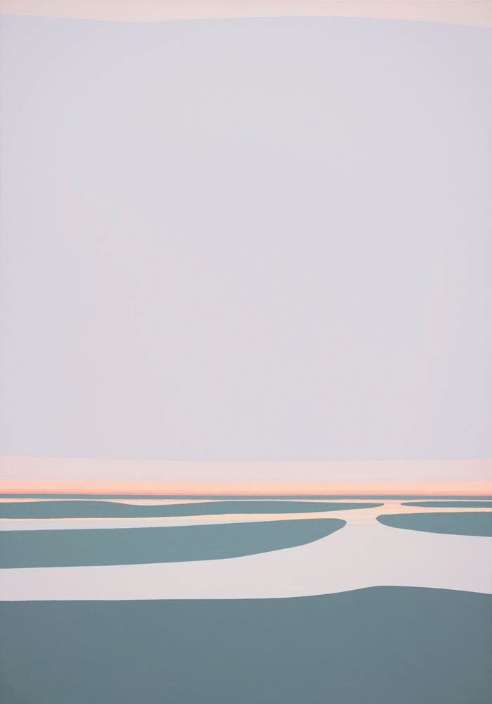 Wetlands II , 1983  acrylic on canvas 50 x 35 inches; 127 x 88.9 centimeters