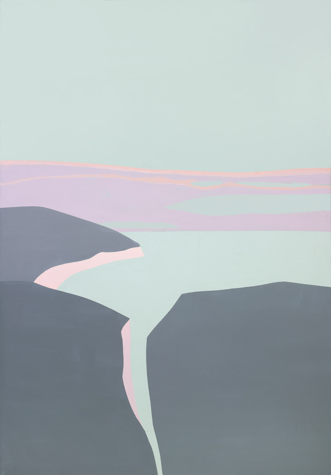 Seen From a Height , 1988  acrylic on canvas 50 x 35 inches; 127 x 88.9 centimeters
