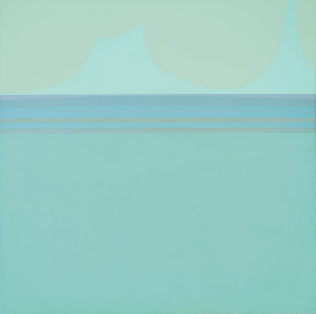 Ocean , 1979  acrylic on canvas 36 x 36 inches; 91.4 x 91.4 centimeters