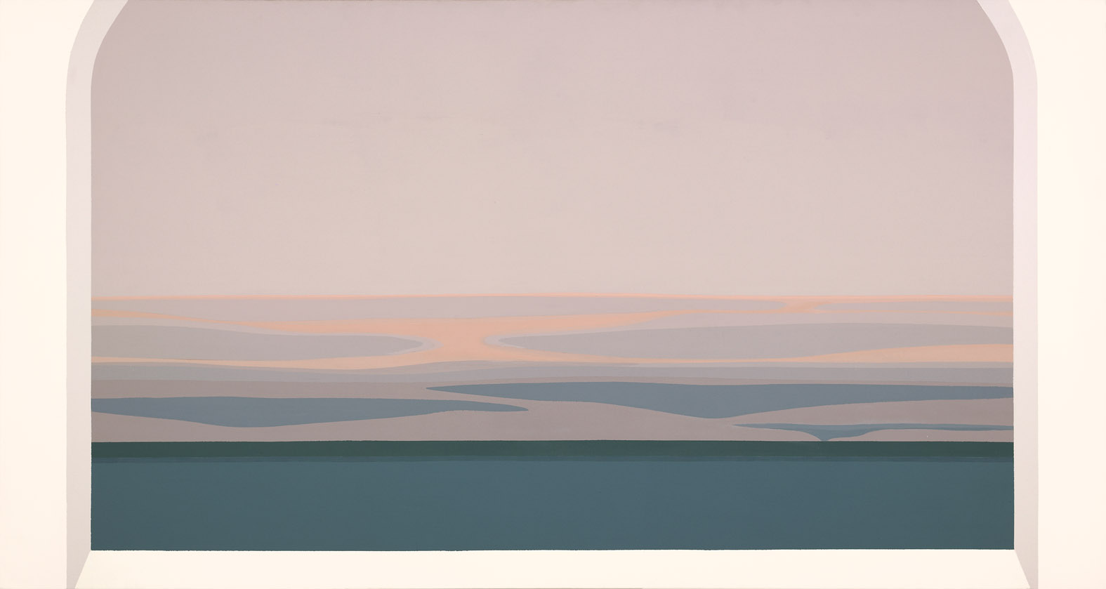 Night Flying In , 1984  acrylic on canvas 38 x 72 inches; 182.9 x 96.5 centimeters