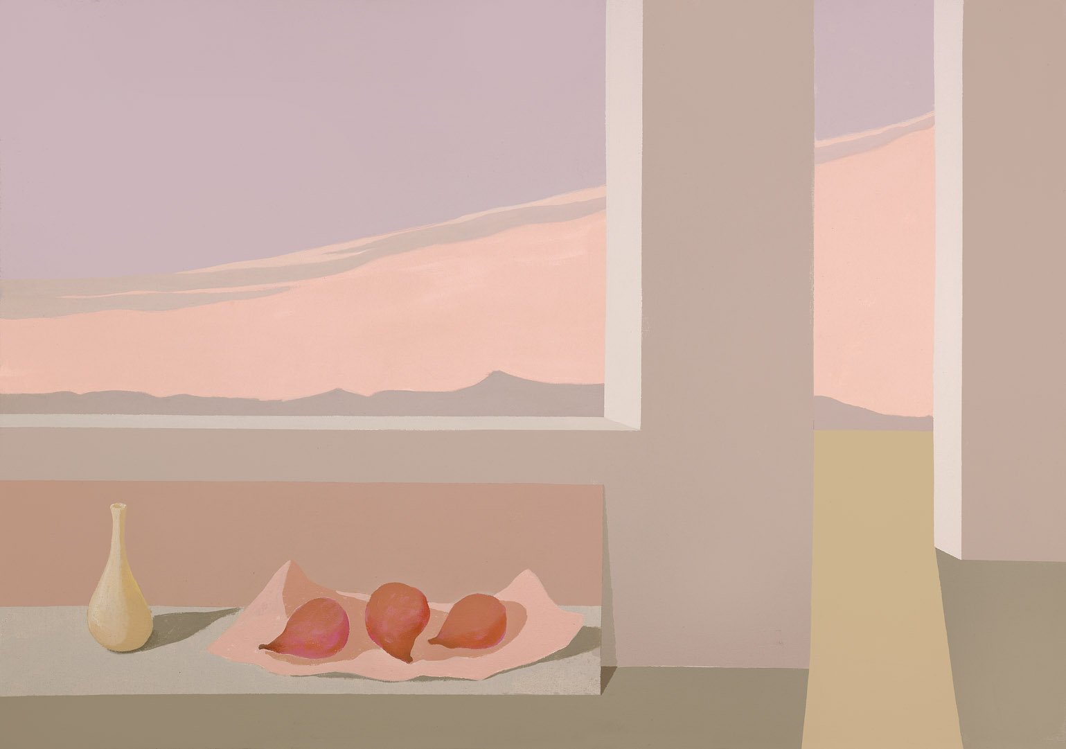 Red Pears , 1987  acrylic on canvas 35 x 50 inches; 88.9 x 127 centimeters