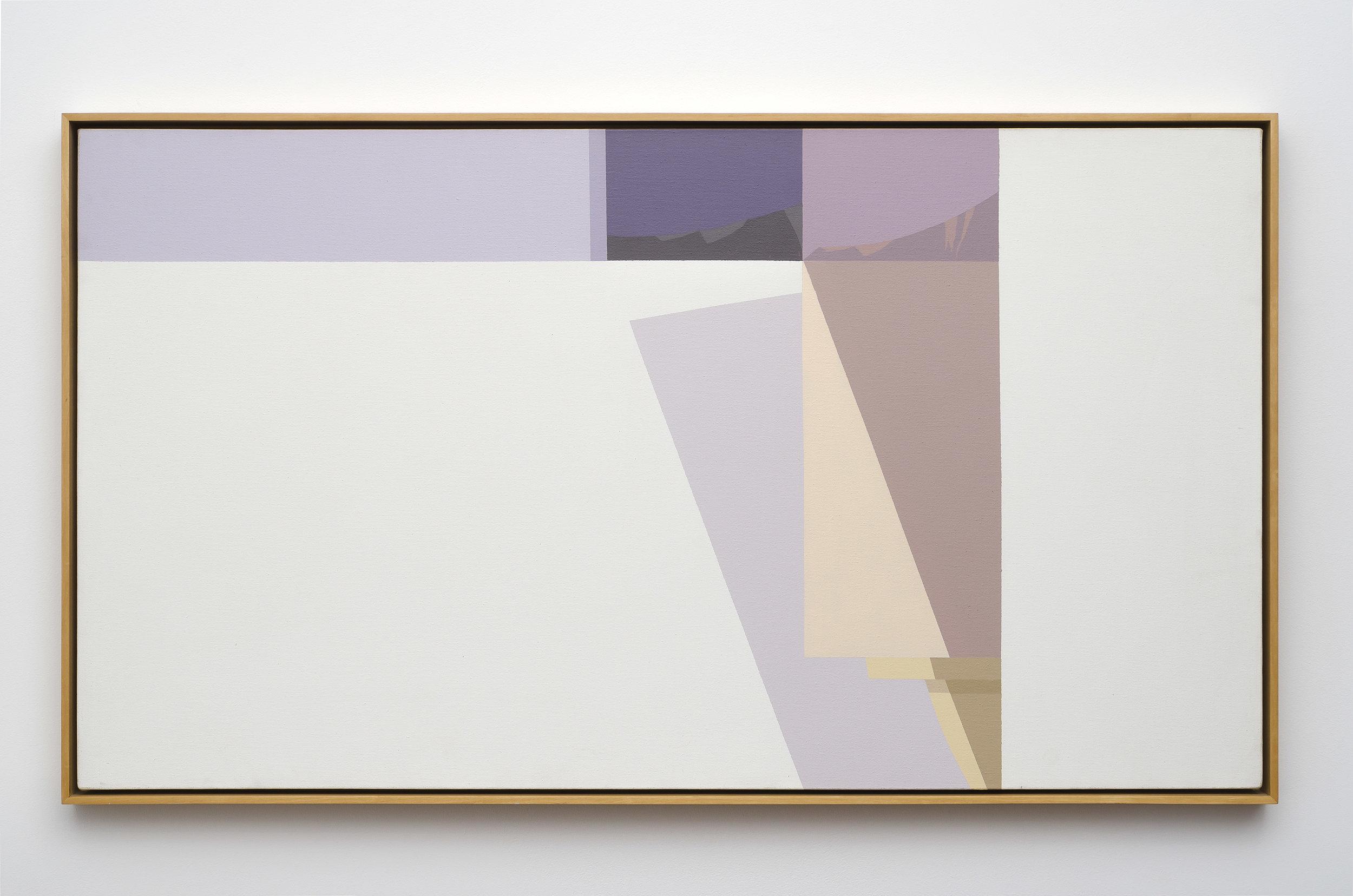 Studio Interior , 1980  acrylic on canvas 30 x 54 inches; 76.2 x 137.2 centimeters