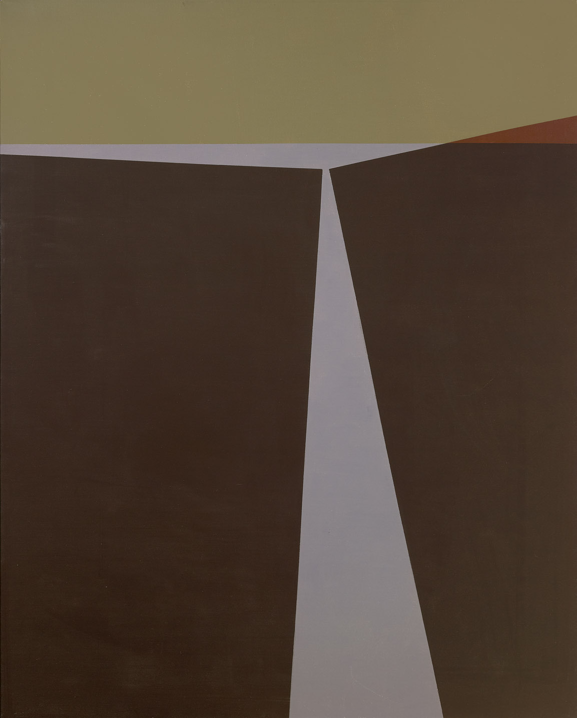 Cimmerian Landscape , 1960  oil on canvas 36 x 20 inches; 91.4 x 50.8 centimeters