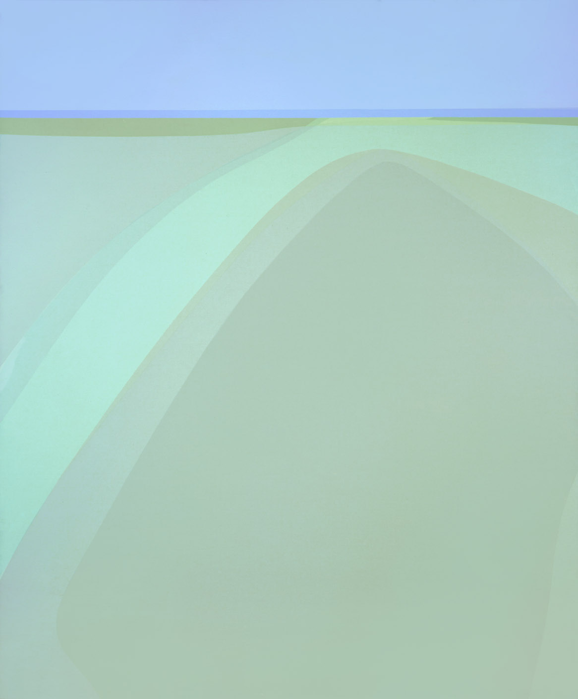 Estuary , 1979 acrylic on canvas 60 x 50 inches; 152.4 x 127 centimeters