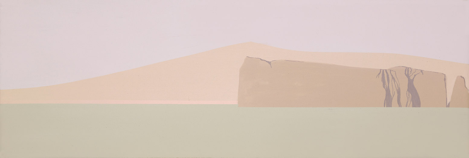 The Headland , 1975 acrylic on canvas 12 x 36 inches; 30.5 x 91.4 centimeters