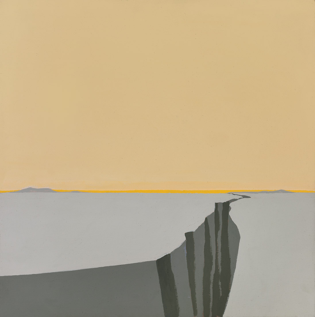 Untitled (Cleft) , 1975  acrylic on canvas 16 x 16 inches; 40.6 x 40.6 centimeters