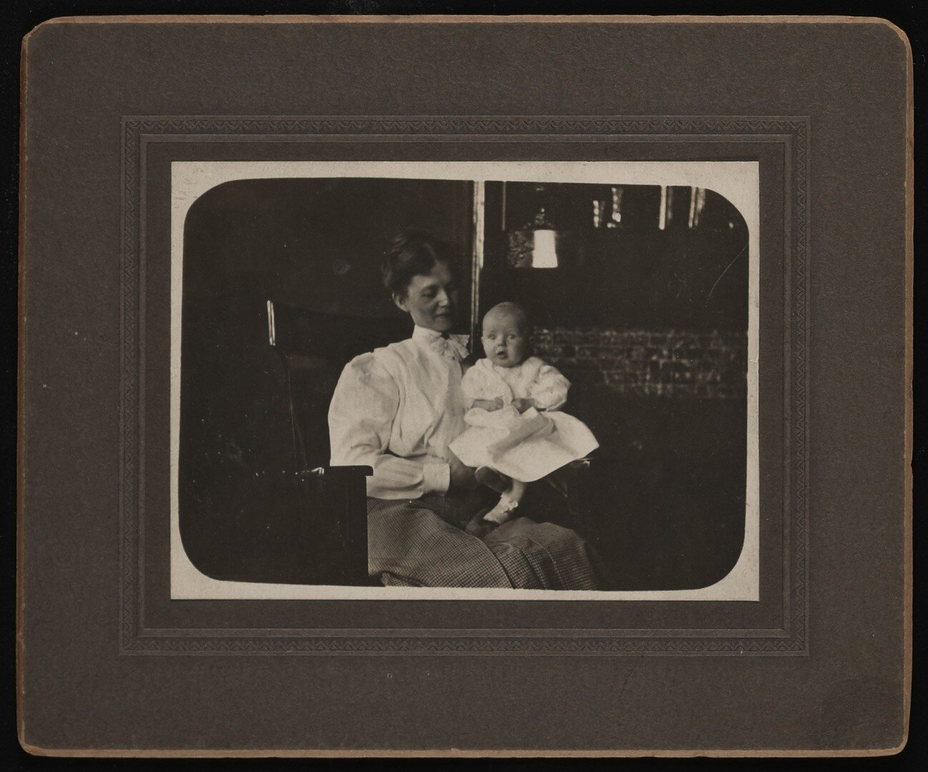 Lundeberg at 8 months old with her mother, Selma.