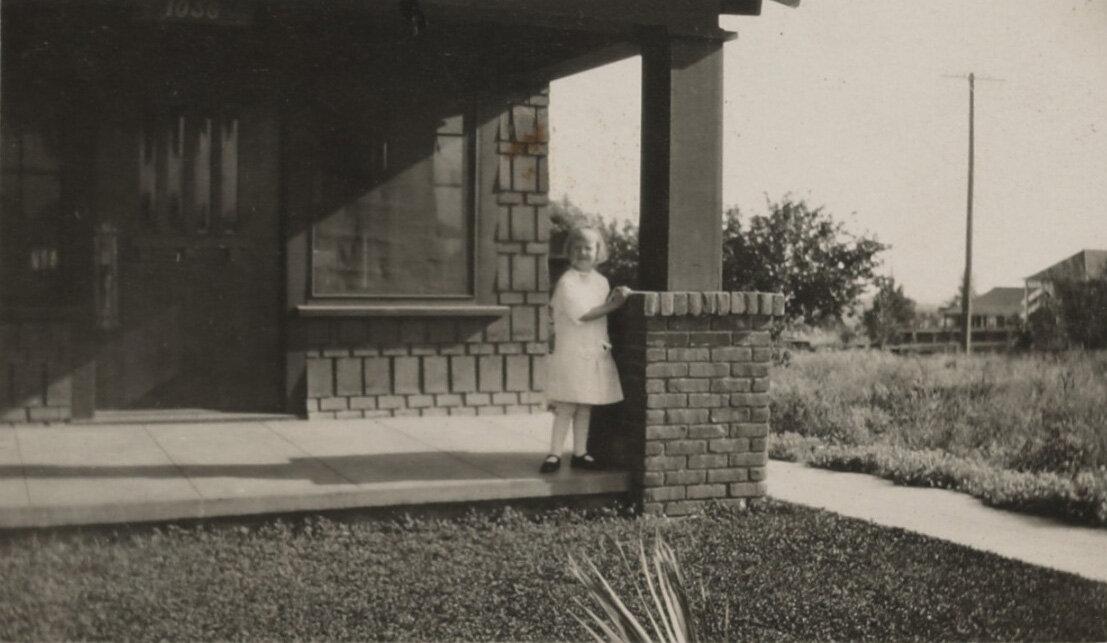 Lundeberg at her home in Pasadena circa 1913.