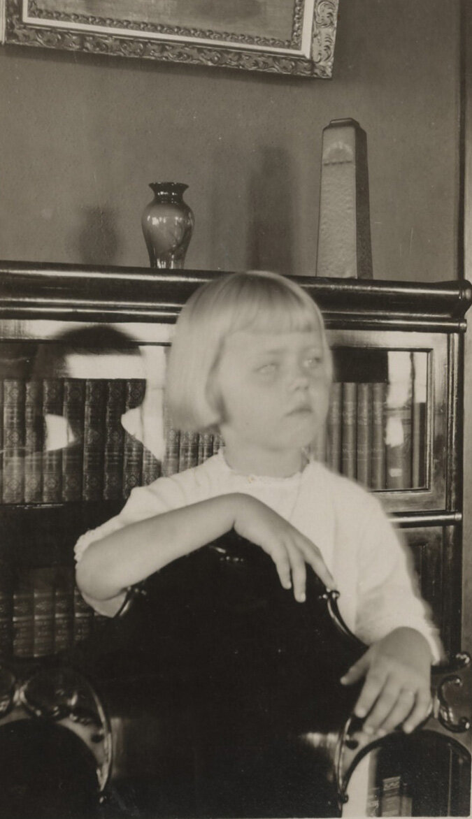 Lundeberg in 1913, age 5.