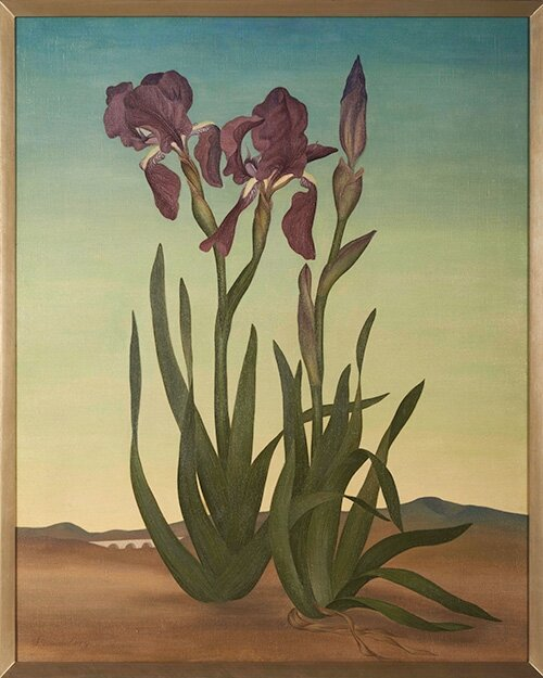 Irises (The Sentinels) , 1936 oil on canvas 30 × 25 inches; 76.2 x 63.5 centimeters  The Huntington Library, Art Museum, and Botanical Gardens