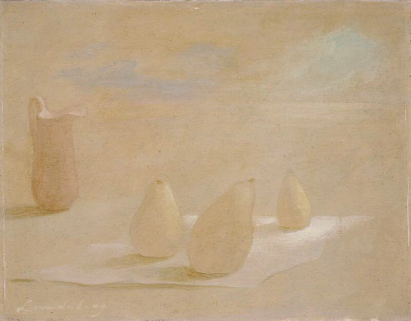 Pears and Pitcher , 1949 oil on paperboard 7 1/2 × 10 inches; 19 × 25.3 centimeters  Hirshhorn Museum and Sculpture Garden