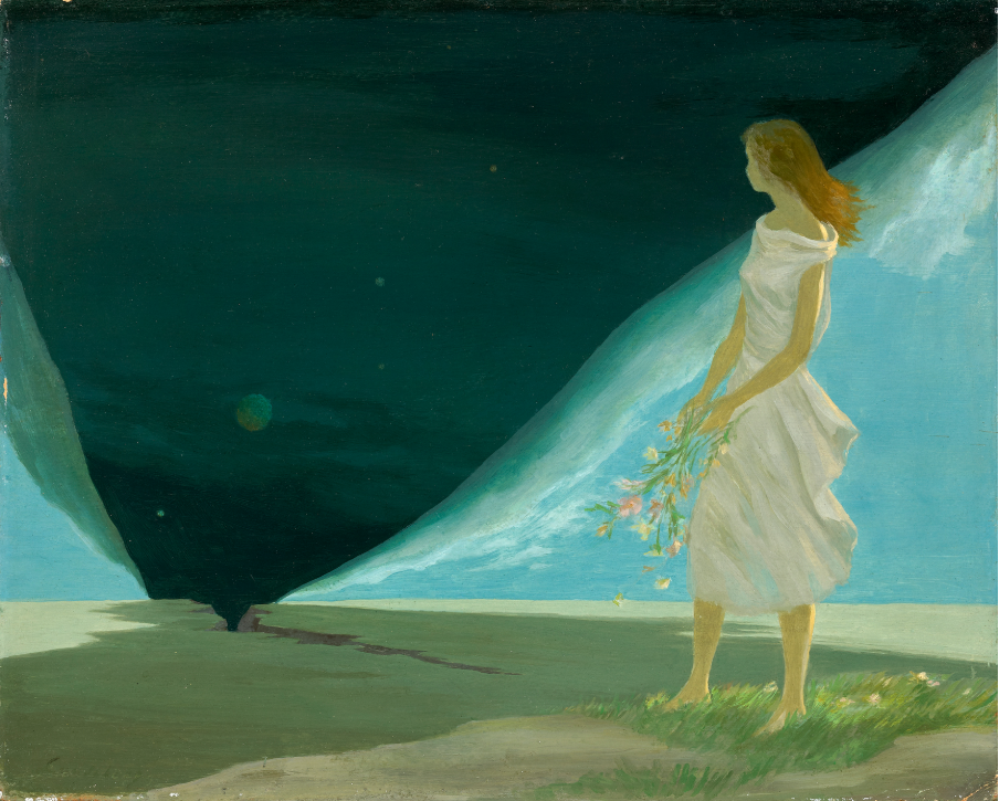 Persephone , 1950 oil on cardboard 13 1/8 x 16 1/4 inches; 33.3 x 41.3 centimeters  Private Collection