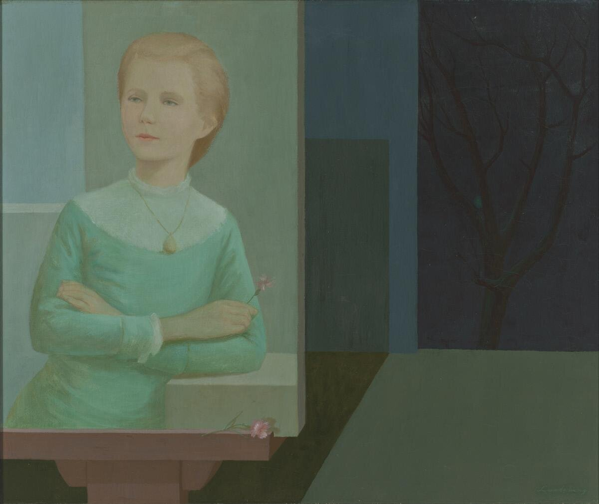The Portrait , 1953 oil on canvas 30 × 36 inches; 76.2 × 91.4 centimeters  Santa Barbara Museum of Art