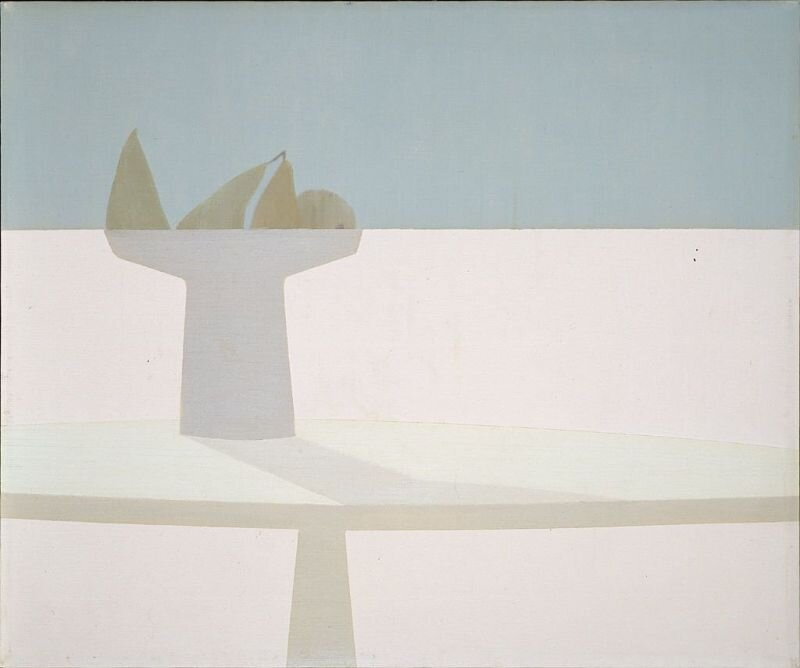 Still Life , 1963 oil on canvas 19 7/8 × 24 1/8 inches; 50.5 × 61.2 centimeters  Hirshhorn Museum and Sculpture Garden