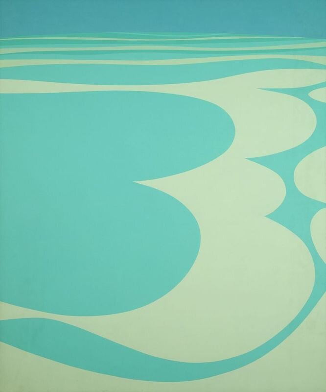Summer Tide , 1967 acrylic on canvas 72 1/4 × 60 1/8 inches; 183.6 × 152.5 centimeters  Hirshhorn Museum and Sculpture Garden