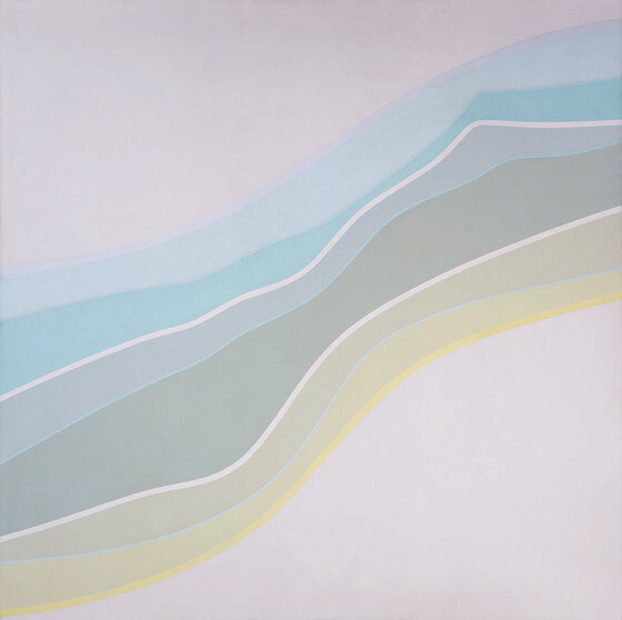 Linear Torso #4 , 1969 acrylic on canvas 60 x 60 inches; 152.4 x 152.4 centimeters  Los Angeles County Museum of Art