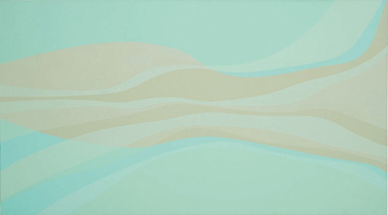 Naiad #2 , 1968 acrylic on canvas 30 x 54 inches; 76.2 x 137.2 centimeters